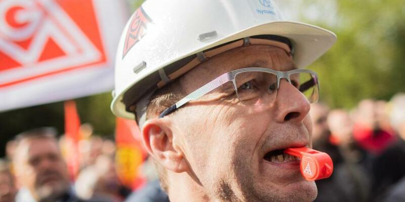 Demonstration Thyssenkrupp - Foto: Rolf Vennenbernd/dpa
