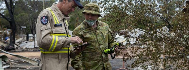 Buschbrände in Australien - Foto: Royal Australian Navy/ROYAL AUSTRALIAN NAVY/dpa