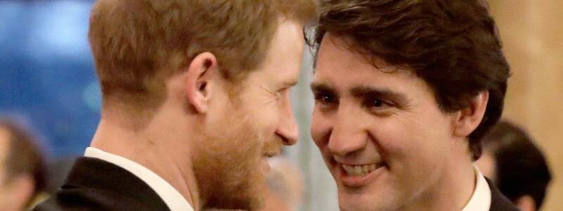 Premierminister Trudeau und Prinz Harry - Foto: Matt Dunham/PA Wire/dpa