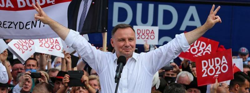 Vor den Präsidentschaftswahlen in Polen - Duda - Foto: Andrzej Grygiel/PAP/dpa