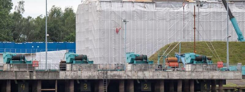Sanierung der «Gorch Fock» - Foto: Sina Schuldt/dpa