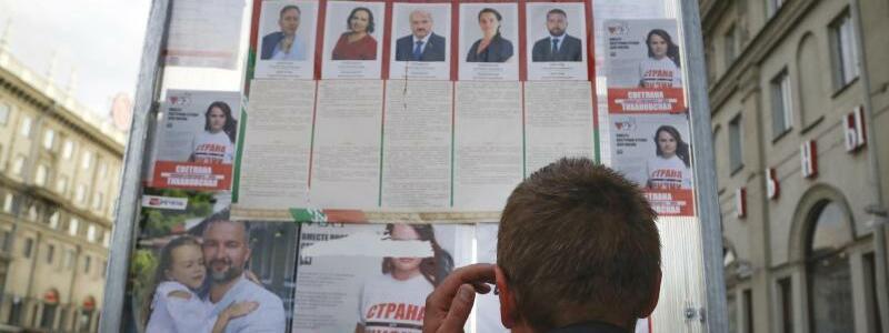 Vor der Pr?sidentenwahl in Belarus - Foto: Sergei Grits/AP/dpa