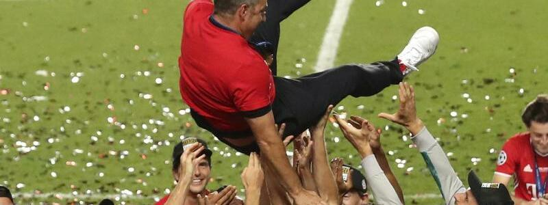 Nach dem Sieg - Foto: Miguel A. Lopes/Pool EPA/AP/dpa