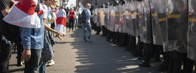Protest in Belarus - Foto: ---/AP/dpa