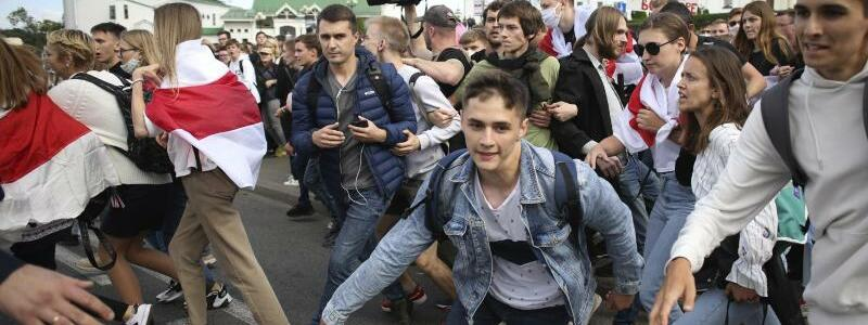 Proteste in Belarus - Foto: Uncredited/Tut.by/AP/dpa