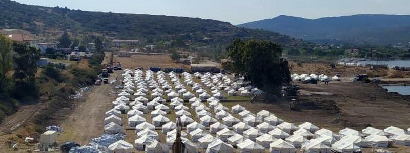Lage auf Lesbos - Foto: -/Migrationsministerium/dpa