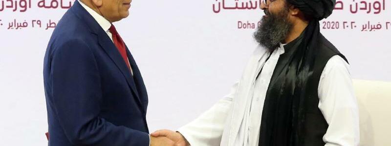 USA und Taliban unterzeichnen Abkommen - Foto: Hussein Sayed/AP/dpa
