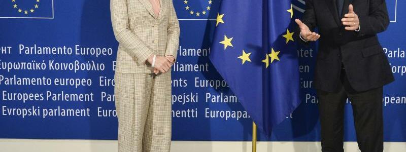 Treffen der EU-Au?enminister in Br?ssel - Tichanowskaja - Foto: Johanna Geron/Pool Reuters/AP/dpa