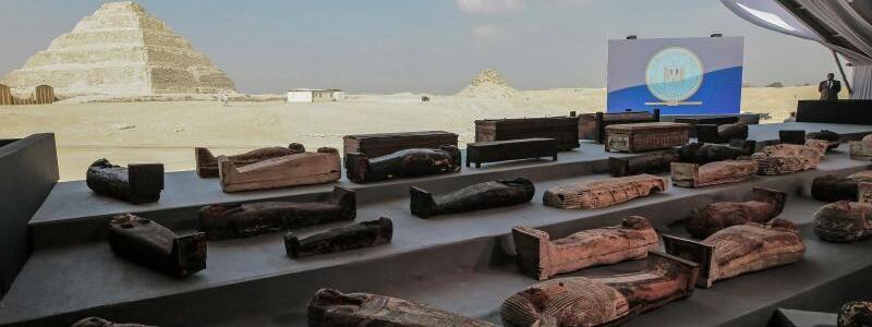 Antike Sarkophage in ?gypten - Foto: Fadel Dawood/dpa