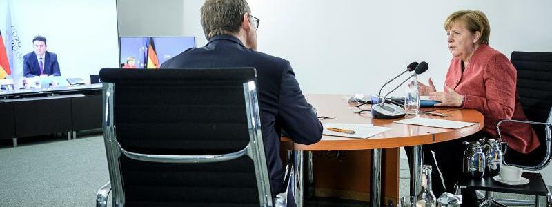 Beratungen Merkel mit Ministerpr?sidenten - Foto: Jesco Denzel/Bundespresseamt/dpa