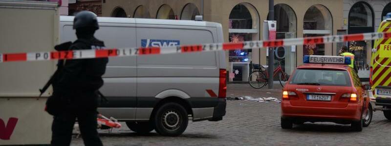 Am Tatort - Foto: Harald Tittel/dpa