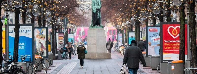 Leere Innenstadt von Hannover - Foto: Julian Stratenschulte/dpa