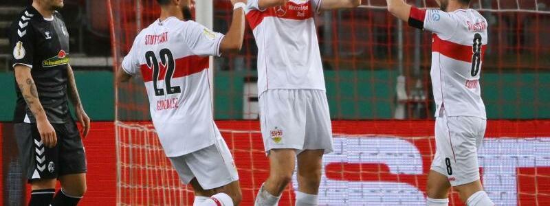 1:0-Sieg des VfB Stuttgart - Foto: Marijan Murat/dpa