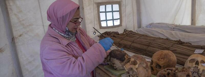Arch?ologen entdecken Totentempel - Foto: Nariman El-Mofty/AP/dpa