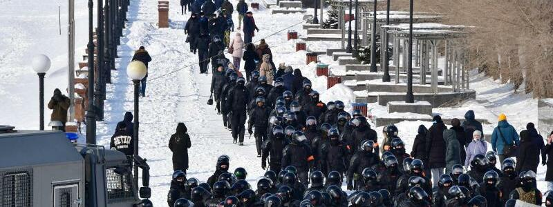 Bereitschaftspolizei - Foto: Yuri Smityuk/TASS/dpa