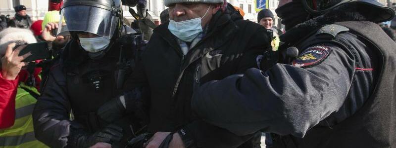Protest in Russland - Foto: Aleksander Khitrov/AP/dpa