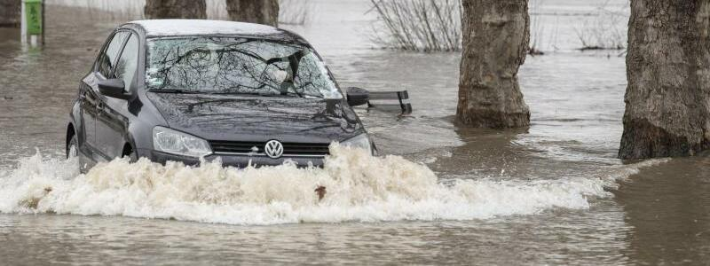 Hochwasser am Rhein - Foto: Boris Roessler/dpa