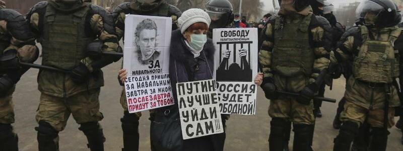 Nawalny-Proteste in Russland - Foto: Dmitry Rogulin/AP/dpa