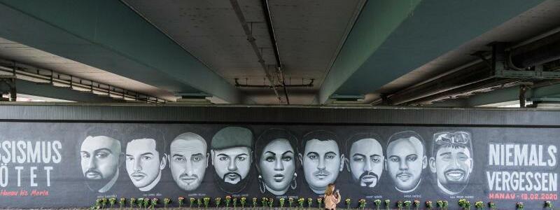 Gem?lde erinnert an Hanau-Opfer - Foto: Andreas Arnold/dpa