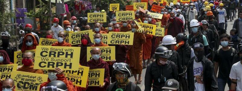 M?nche demonstrieren - Foto: -/AP/dpa