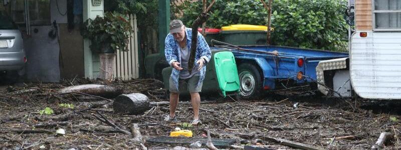 Hochwasser in Australien - Foto: Jason O'brien/AAP/dpa