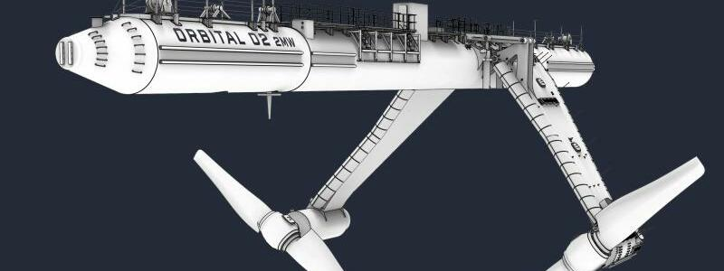 Gezeitenkraftwerk Orbital O2 - Foto: -/Orbital Marine Power Ltd./dpa