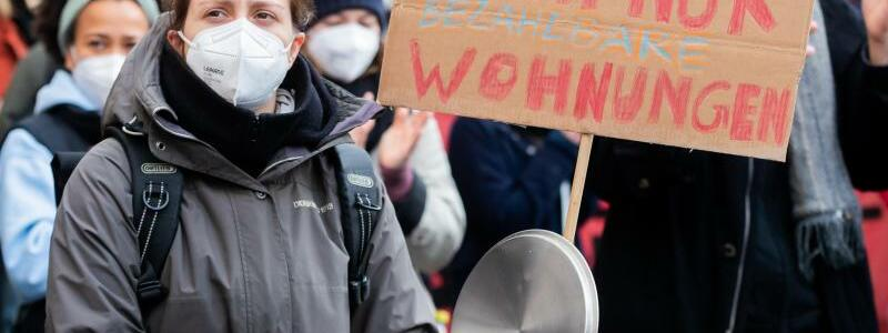 Demonstration gegen BGH-Urteil zum Mietendeckel - Foto: Christoph Soeder/dpa