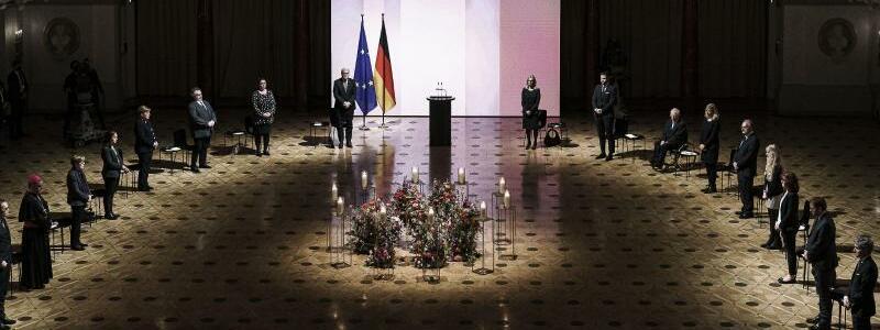 Zentrales Gedenken in Berlin - Foto: Jesco Denzel/BPA Pool/dpa
