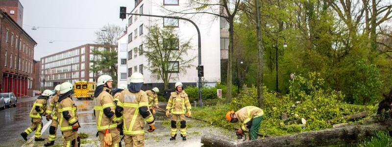 Feuerwehreinsatz - Foto: Sina Schuldt/dpa