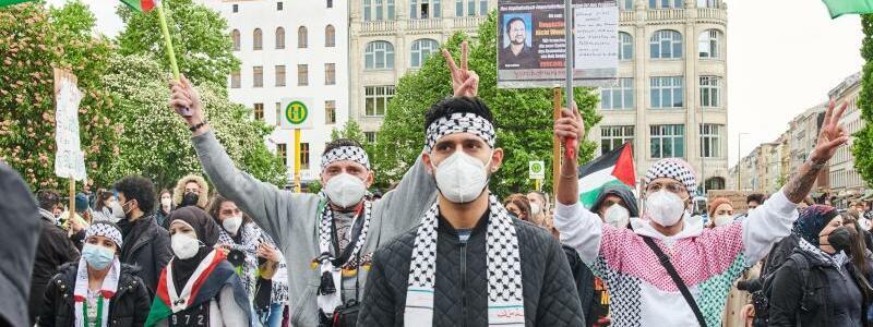 Pro-pal?stinensische Demonstration - Foto: Annette Riedl/dpa