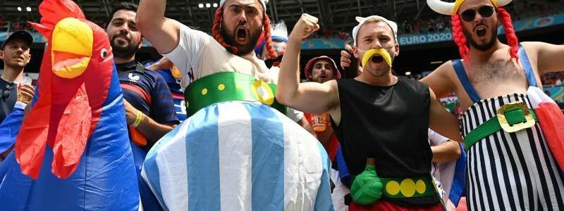 Franz?sische Fans - Foto: Robert Michael/dpa-Zentralbild/dpa
