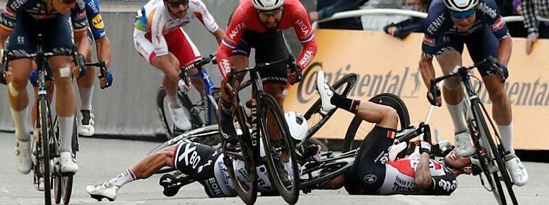 Sprint-Unfall - Foto: Benoit Tessier/AFP/dpa