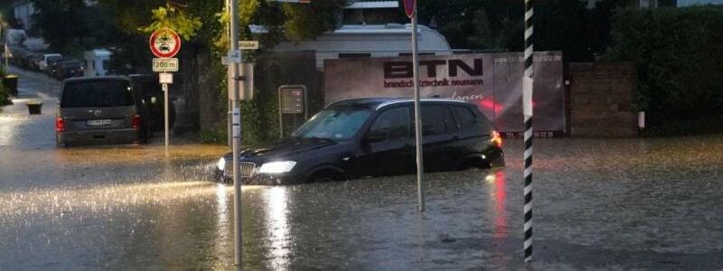 ?berschwemmung in Aichtal - Foto: Sven Kohls/SDMG/dpa