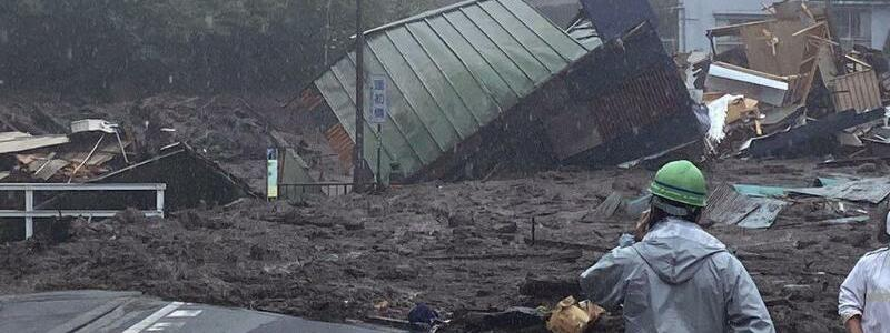 Erdrutsch in Japan - Foto: --/Satoru Watanabe/AP/dpa