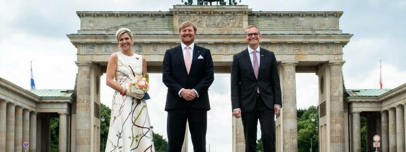 Niederl?ndisches K?nigspaar in Berlin - Foto: Bernd von Jutrczenka/dpa