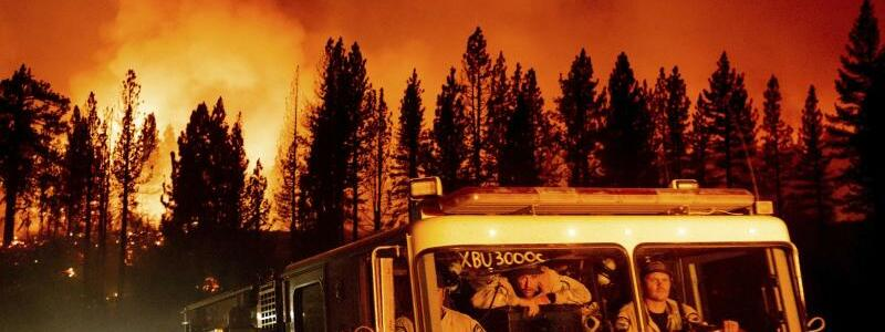Waldbrand in Kalifornien - Foto: Noah Berger/AP/dpa