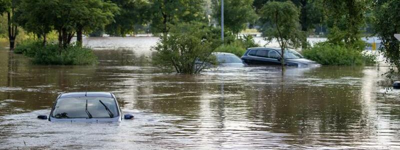 Hochwasser - Foto: Daniel Karmann/dpa