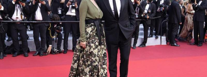 Filmfestival Cannes - Dujardin & P?chalat - Foto: Brynn Anderson/AP/dpa