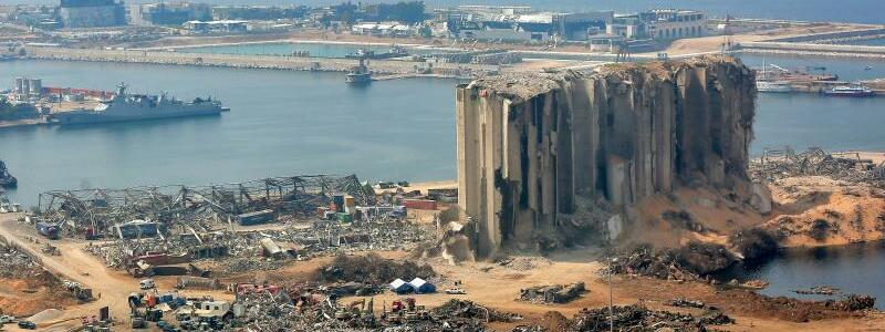 Hafen von Beirut - Foto: Marwan Naamani/dpa