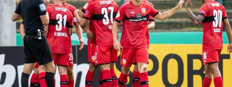 VfB gewinnt beim BFC - Foto: Andreas Gora/dpa
