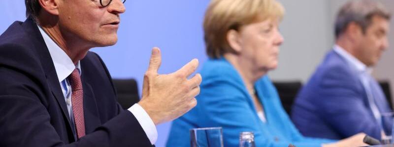 Pk nach Bund-L?nder-Konferenz - Foto: Christian Mang/Reuters/Pool/dpa