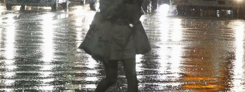 Regen - Foto: ---/Kyodo News via AP/dpa