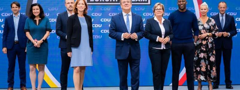 Wahlkampf der CDU - Foto: Christoph Soeder/dpa