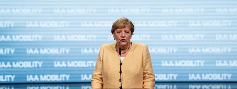 IAA Mobility - Angela Merkel - Foto: Sven Hoppe/dpa