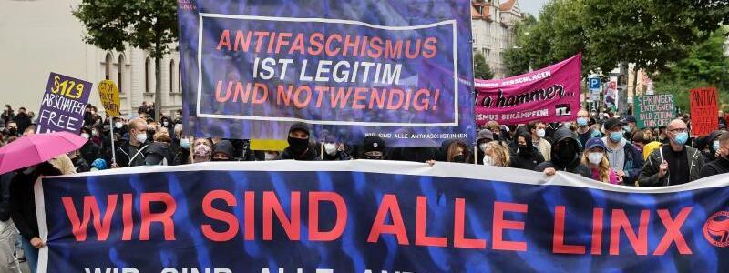 ?Wir sind alle LinX?-Demo - Foto: Jan Woitas/dpa-Zentralbild/dpa