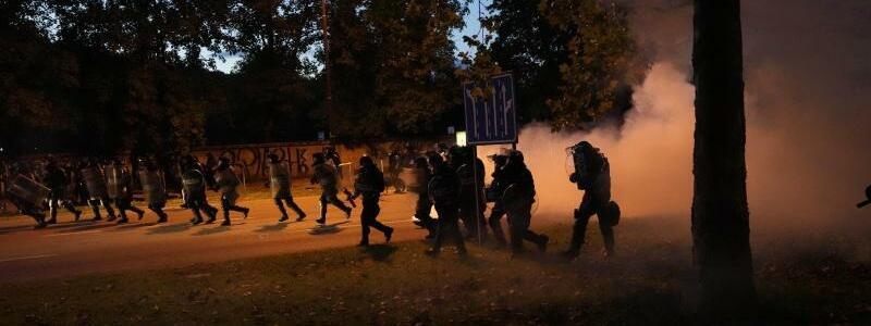 Proteste in Slowenien - Foto: Petr David Josek/AP/dpa