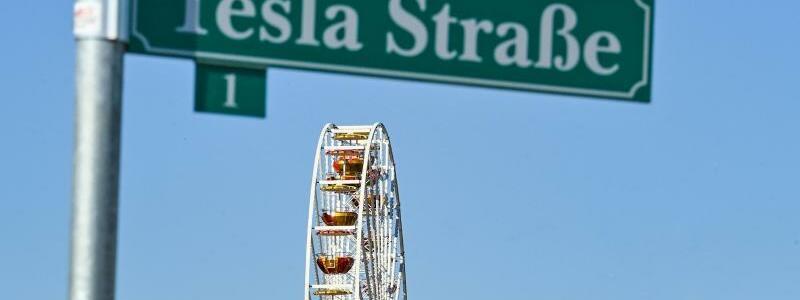 Tesla l?dt zu Volksfest ein - Foto: Patrick Pleul/dpa-Zentralbild/ZB